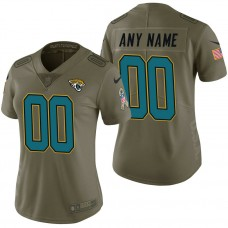 Women's Jacksonville Jaguars Olive 2017 Salute to Service Limited Customized Jersey