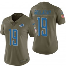 Women's Detroit Lions #19 Kenny Golladay Olive 2017 Salute to Service Limited Jersey