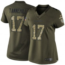 Women's Miami Dolphins #17 Ryan Tannehill Green Salute To Service Jersey