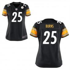 Women's Pittsburgh Steelers #25 Artie Burns Black Game Jersey