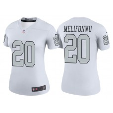 Women's Oakland Raiders #20 Obi Melifonwu White Color Rush Legend Jersey