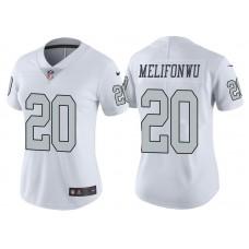 Women's Oakland Raiders #20 Obi Melifonwu White Vapor Untouchable Color Rush Limited Jersey