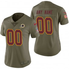 Women's Washington Redskins Olive 2017 Salute to Service Limited Customized Jersey