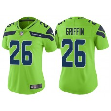 Women's Seattle Seahawks #26 Shaquill Griffin Neon Green Vapor Untouchable Color Rush Limited Jersey