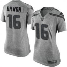Women's Seattle Seahawks #16 Tyler Lockett Gridiron Gray Limited Jersey