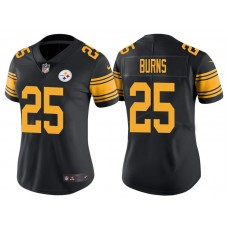 Women's Pittsburgh Steelers #25 Artie Burns Black Vapor Untouchable Color Rush Limited Jersey