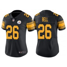 Women's Pittsburgh Steelers #26 Le'Veon Bell Black Vapor Untouchable Color Rush Limited Jersey
