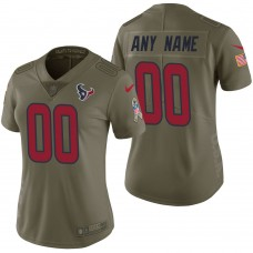 Women's Houston Texans Olive 2017 Salute to Service Limited Customized Jersey