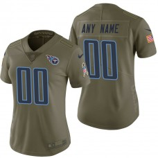 Women's Tennessee Titans Olive 2017 Salute to Service Limited Customized Jersey