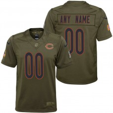 Youth Chicago Bears Olive 2017 Salute to Service Game Customized Jersey