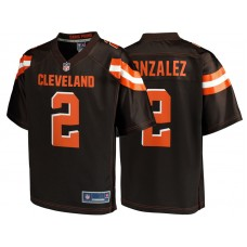 Youth Cleveland Browns #2 Zane Gonzalez Brown Team Color Player Jersey
