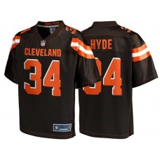 Youth Cleveland Browns #34 Carlos Hyde Brown Team Color Player Jersey