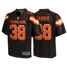 Youth Cleveland Browns #38 TJ Carrie Brown Team Color Player Jersey