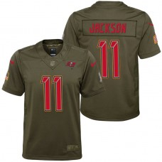 Youth Tampa Bay Buccaneers DeSean Jackson Olive 2017 Salute to Service Game Jersey