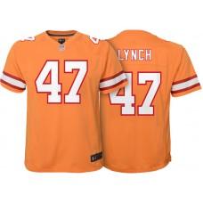 Youth Tampa Bay Buccaneers #47 John Lynch Orange Retired Game Jersey