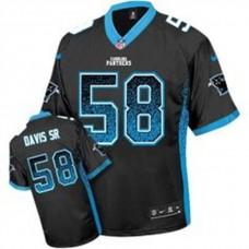 Youth Carolina Panthers #58 Thomas Davis Sr Black Drift Fashion Elite Jersey