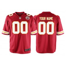 Youth Kansas City Chiefs Red Game Customized Jersey