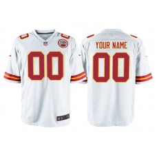 Youth Kansas City Chiefs White Game Customized Jersey