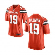Youth Cleveland Browns #19 Corey Coleman Orange Game Jersey
