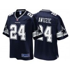 Youth Dallas Cowboys #24 Chidobe Awuzie Navy Team Color Player Jersey