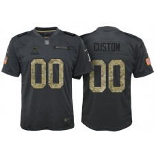 Youth Dallas Cowboys Anthracite Camo 2016 Salute to Service Customized Jersey
