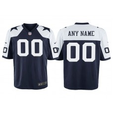 Youth Dallas Cowboys Navy Throwback Game Customized Jersey