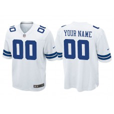 Youth Dallas Cowboys White Game Customized Jersey