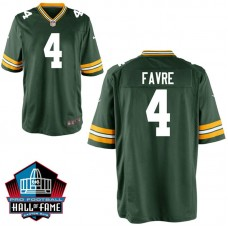 Youth Green Bay Packers #4 Brett Favre Green Game Jersey