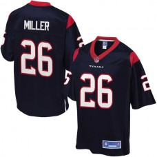 Youth Houston Texans #26 Lamar Miller Pro Line Navy Team Color Jersey