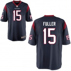 Youth Houston Texans #15 Will Fuller Navy Game Jersey