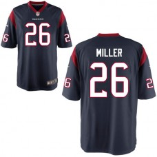 Youth Houston Texans #26 Lamar Miller Navy Blue Game Jersey