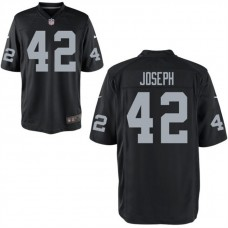 Youth Oakland Raiders #42 Karl Joseph Black Game Jersey