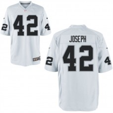 Youth Oakland Raiders #42 Karl Joseph White Game Jersey