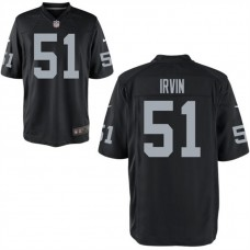 Youth Oakland Raiders #51 Bruce Irvin Black Game Jersey