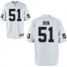 Youth Oakland Raiders #51 Bruce Irvin White Game Jersey