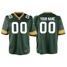 Youth Green Bay Packers Green Game Customized Jersey