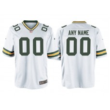 Youth Green Bay Packers White Game Customized Jersey