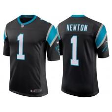 Youth Carolina Panthers #1 Cam Newton Black Classic Limited Player Jersey