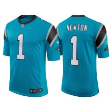 Youth Carolina Panthers #1 Cam Newton Blue Classic Limited Player Jersey