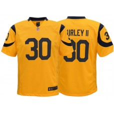 Youth Los Angeles Rams #30 Todd Gurley Gold Color Rush Game Jersey