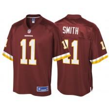 Youth Washington Redskins #11 Alex Smith Burgundy Pro Line Team Color Jersey