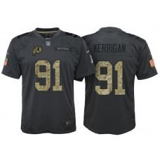 Youth Washington Redskins #91 Ryan Kerrigan Camo Anthracite 2016 Salute to Service Game Jersey