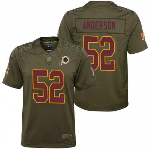 Youth Washington Redskins Ryan Anderson Olive 2017 Salute to Service Game Jersey