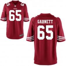Youth San Francisco 49ers #65 Joshua Garnett Red Game Jersey