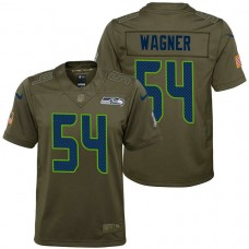 Youth Seattle Seahawks Bobby Wagner Olive 2017 Salute to Service Game Jersey