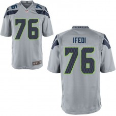 Youth Seattle Seahawks #76 Germain Ifedi Gray Game Jersey