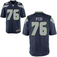 Youth Seattle Seahawks #76 Germain Ifedi Navy Game Jersey