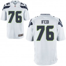 Youth Seattle Seahawks #76 Germain Ifedi White Game Jersey