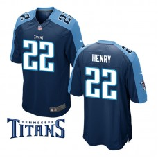 Youth Tennessee Titans #22 Derrick Henry Navy Game Jersey