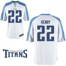 Youth Tennessee Titans #22 Derrick Henry White Game Jersey